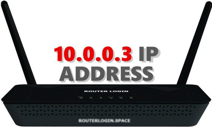 10.0.0.3 IP ADDRESS
